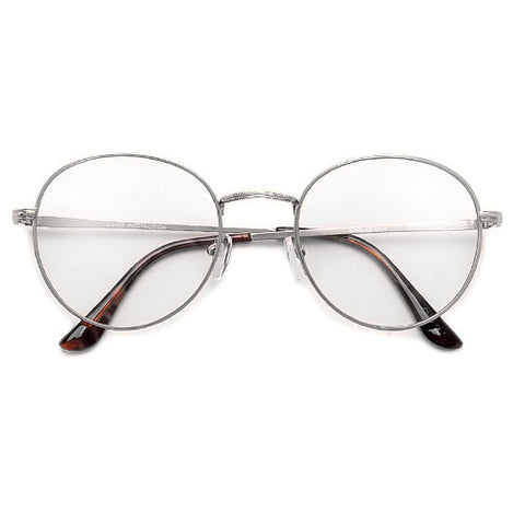 Premier Collection-Retro Round Geo latticed Full Metal Festival Sunnies