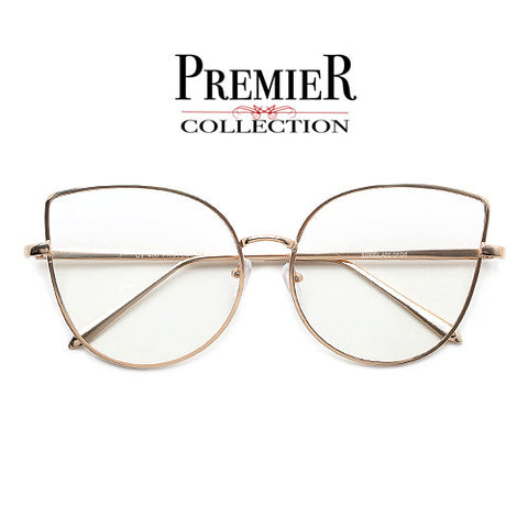Premier Collection-Women's 65mm Oversize Rimless High Fashion Ultra Chic Sunglasses