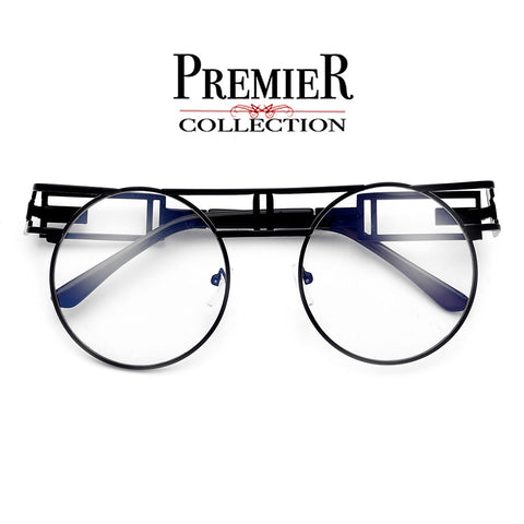 Premier Collection-Thin Light Metal Wire Cat Eye Silhouette Ultra Fashion Eyewear