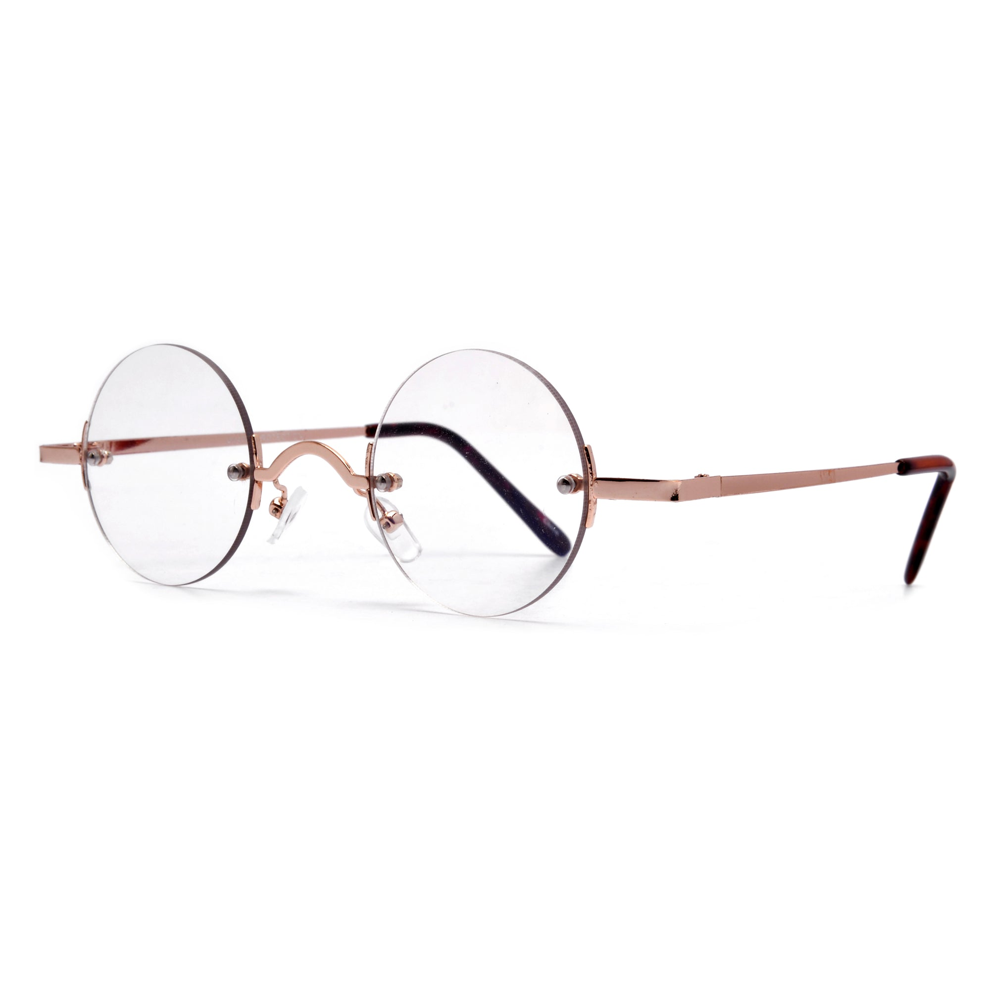 2d8147a3256 Vintage Round Rimless Clear Spectacles - Sunglass Spot