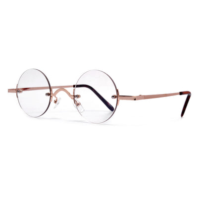 Vintage Round Rimless Clear Spectacles