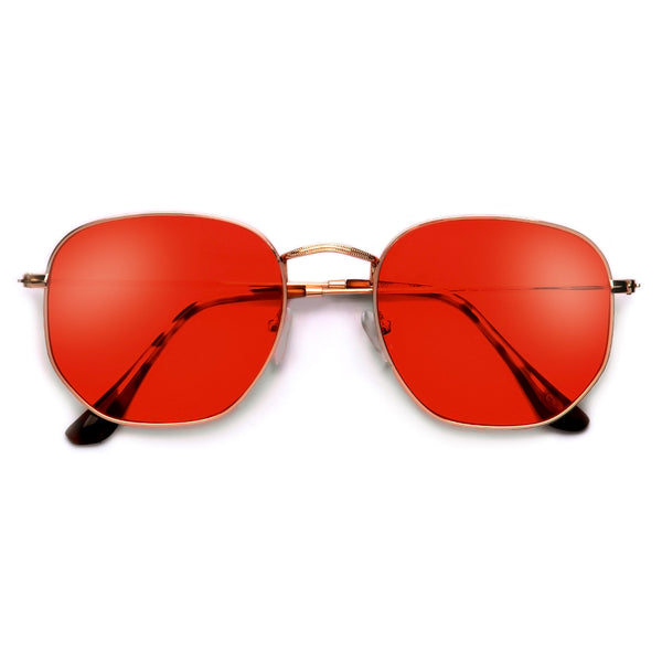 54mm Chic Geometric Flat Lens Sunnies