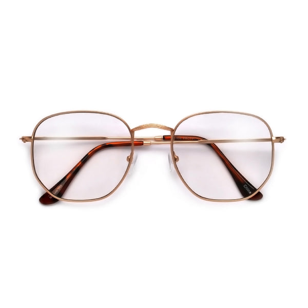 54mm Chic Geometric Flat Lens Clear Eyewear