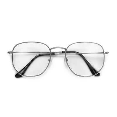 54mm Chic Geometric Flat Lens Clear Eyewear - Sunglass Spot