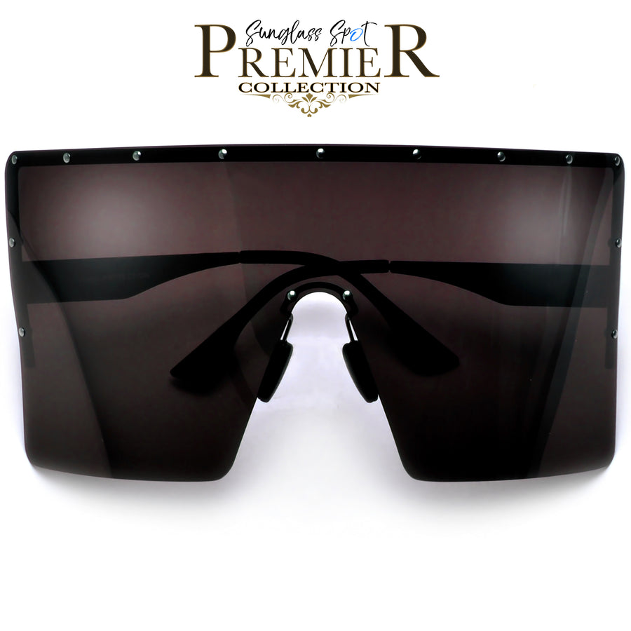 Premier Collection-Oversized Ultra Squared Anti-Glare Polarize Super Shield Sunglasses