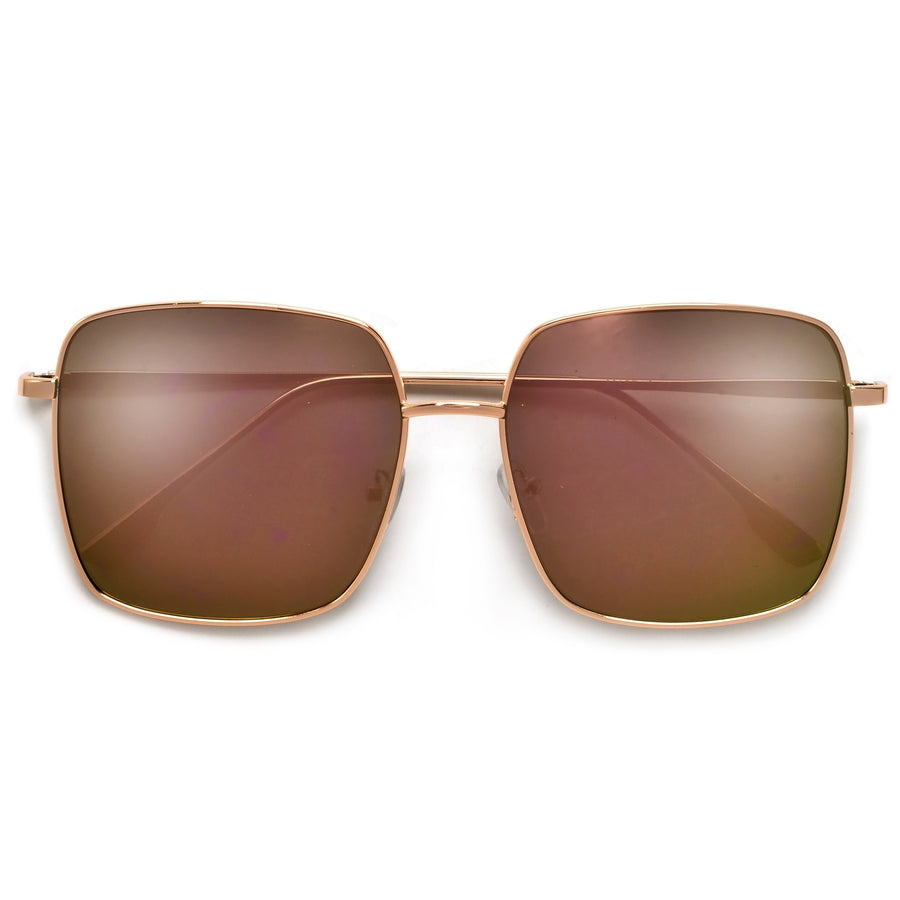 Oversized Sleek Metal Frame Sunnies