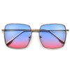 Oversized Sleek Metal Frame Sunnies - Sunglass Spot