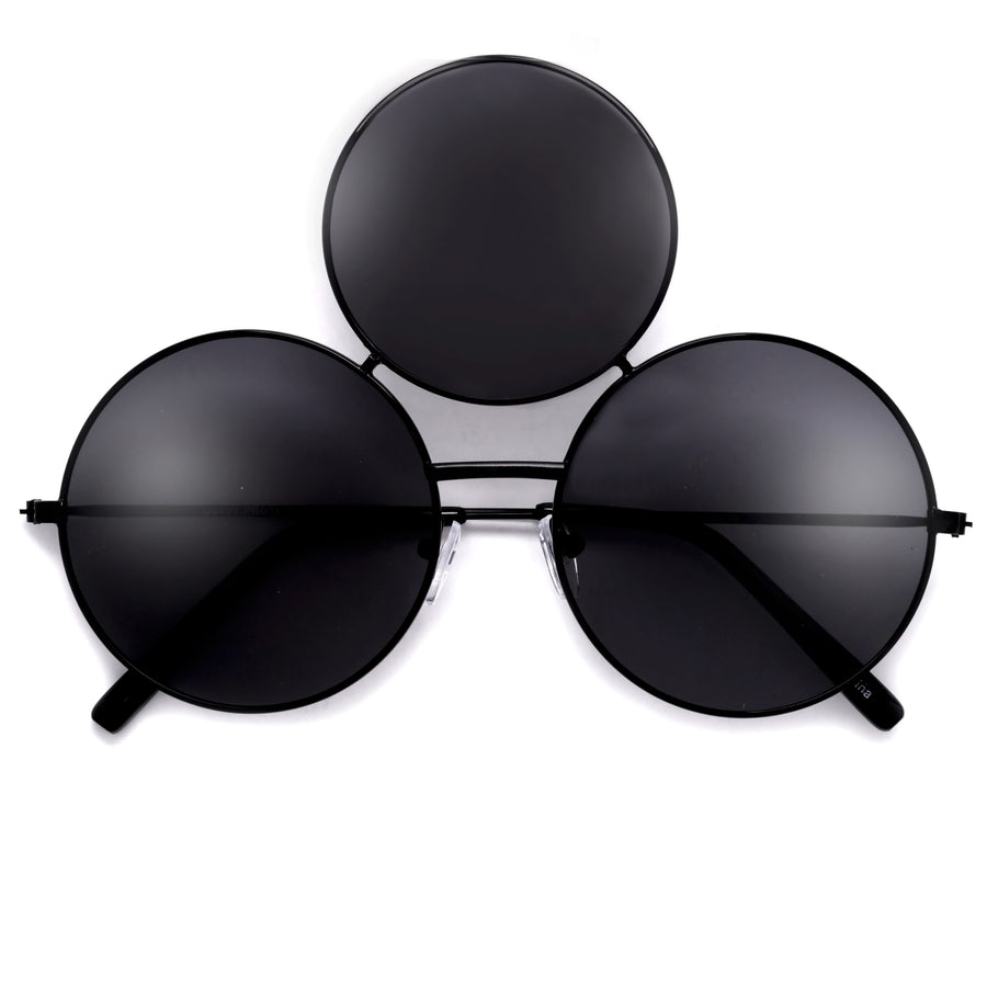 Quirky Triple Round Lens Eccentrically Fun Sunglasses