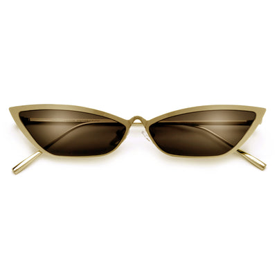 Ultra Slim High Rise Nose Bridge Retro Cat Eye Sunglasses