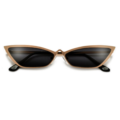 Ultra Slim High Rise Nose Bridge Retro Cat Eye Sunglasses - Sunglass Spot