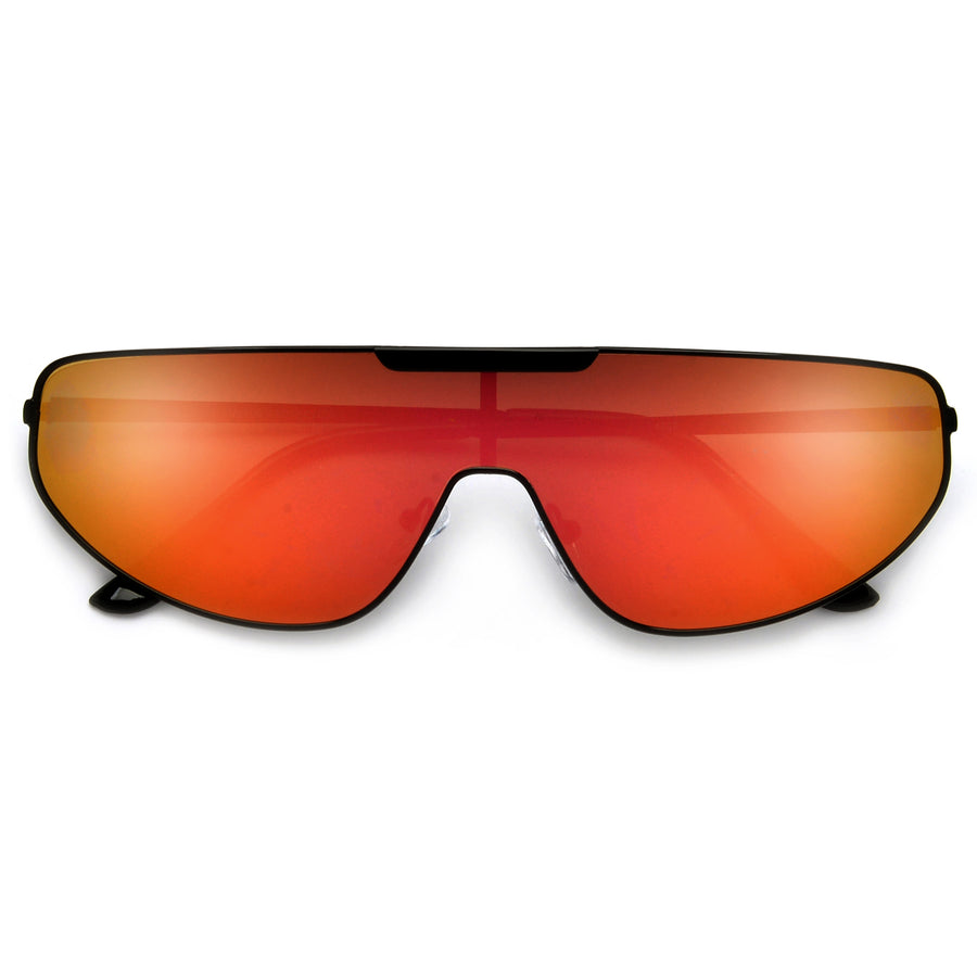 Thin Sleek Single Shield Sunglasses