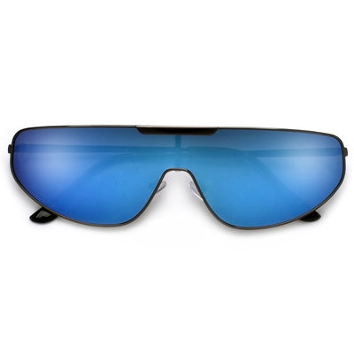 Thin Sleek Single Shield Sunglasses - Sunglass Spot