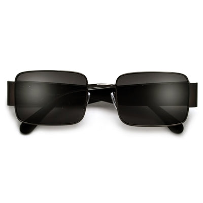 Sleek Rectangular Thick Temple Minimalist Sunglasses