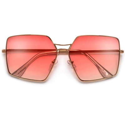 Geometric Oversize Chic Throwback Sunnies - Sunglass Spot