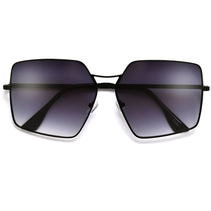 Geometric Oversize Chic Throwback Sunnies