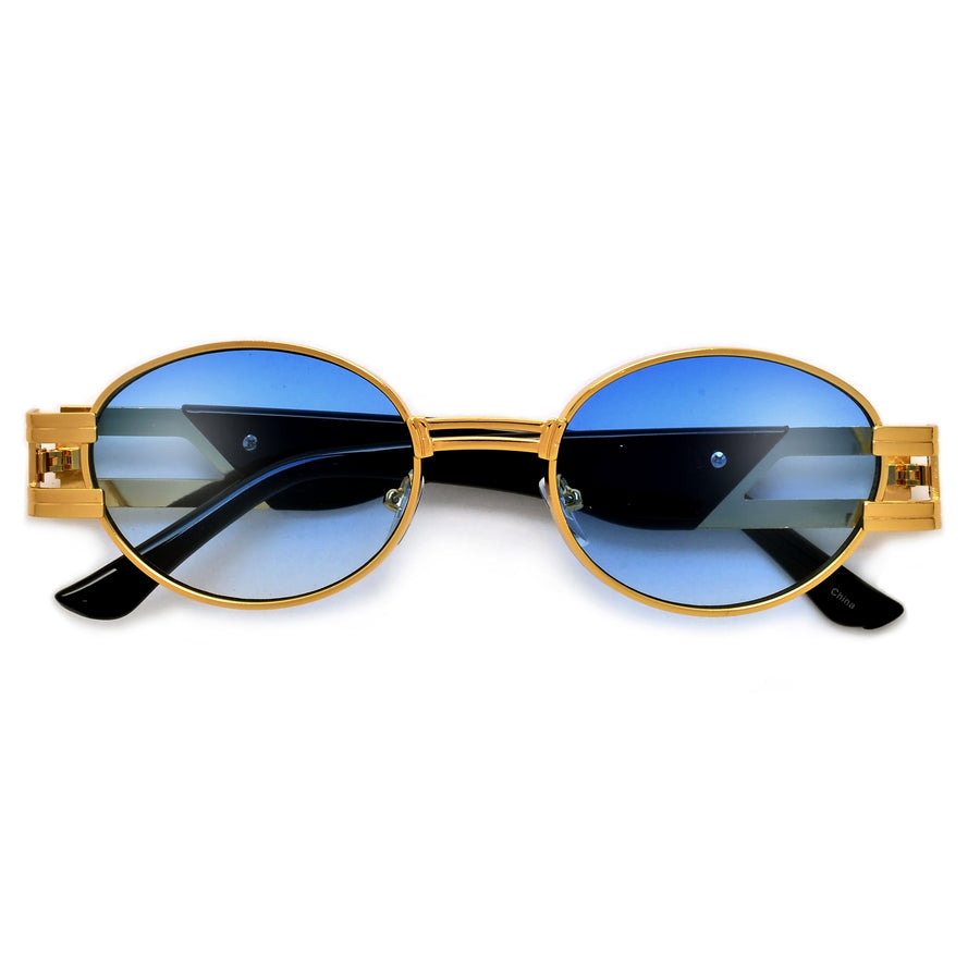 Ultra Suave Oval Metal Cut Out Temple Sunnies