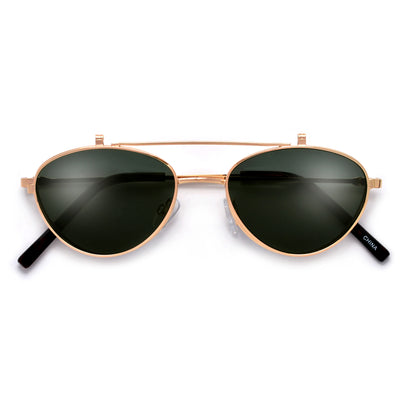 Slim Metal Frame Minimalist Flip Up Sunnies