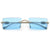 Slim Rimless Rectangular High Fashion Colorful Sunnies