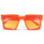 SUMMER BRIGHT BOLD BLOCKY STATEMENT SUNGLASSES