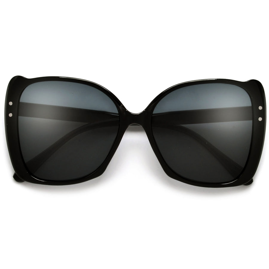 Oversize Studded Cat Eye Silhouette Sunglasses