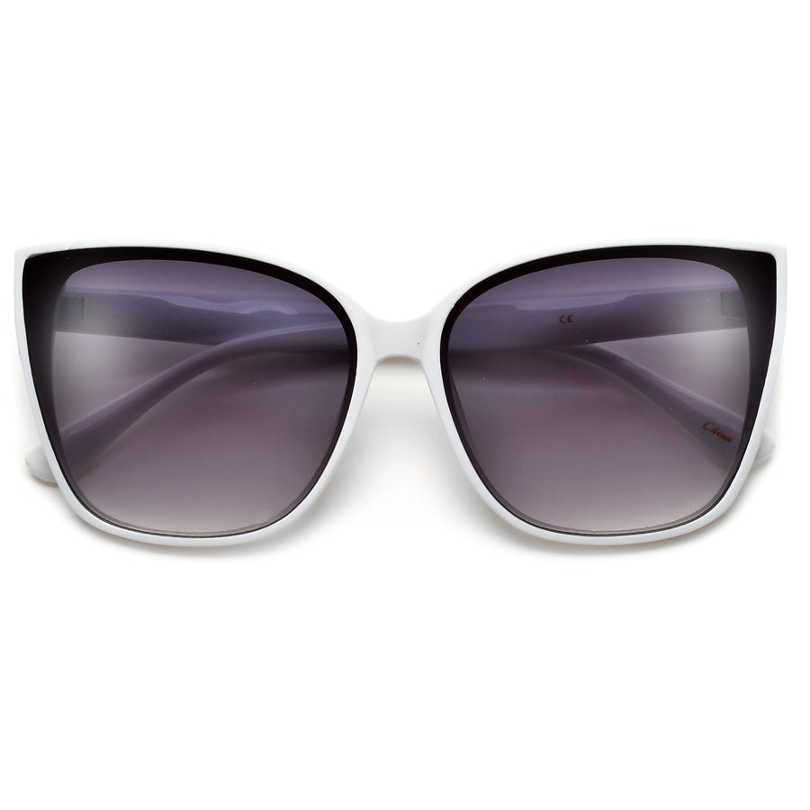 Shimmering Glitter Trim Subtle Cat Eye Sunnies