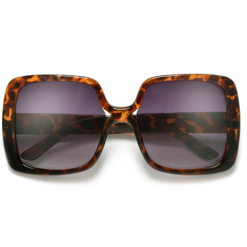 Women's Oversized Square Frame Chic Fashion Sunglasses - Sunglass Spot