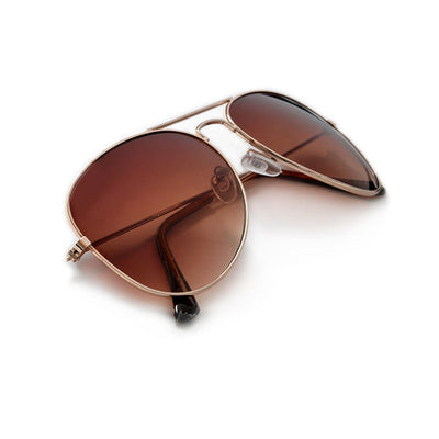 """The Perfect Aviator"" Traditional 58mm Gold Tone Classic - Sunglass Spot"