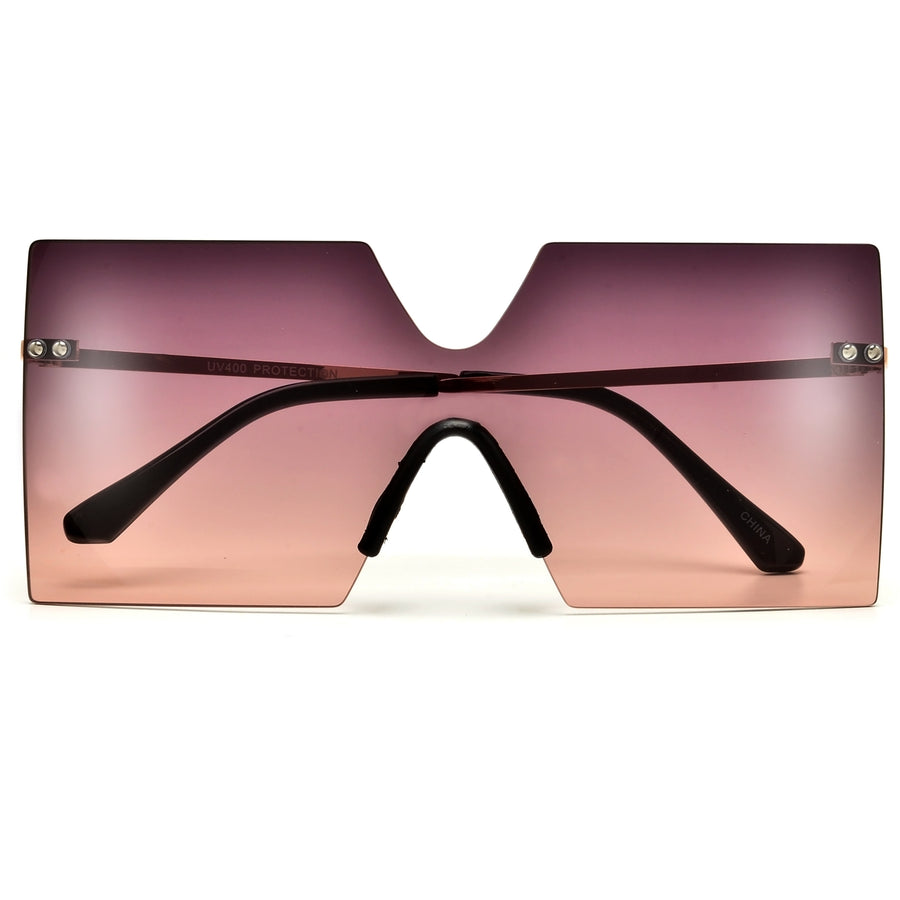 Premier Collection-Elegant Modern 63mm Crossover Browbar Women's Ultra Chic Fashion Eyewear