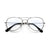 KIDS CLASSIC TEAR DROP BLUE LIGHT CLEAR AVIATOR