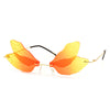 Colorful Rimless Butterfly Wings Sunnies - Sunglass Spot