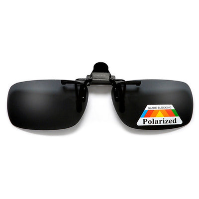 Polarized 52mm-30mm Rectangle Clip-On - Sunglass Spot