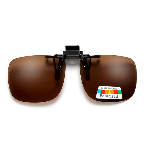 Polarized 54mm-43mm Rectangle Clip-On - Sunglass Spot