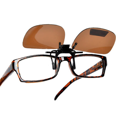 Polarized 54mm-43mm Rectangle Clip-On