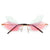 Colorful Rimless Butterfly Wings Sunnies