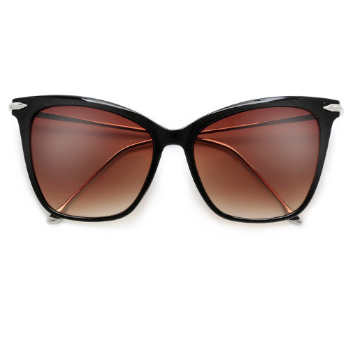 57mm Oversize Retro Cat Silhouette Sunnies - Sunglass Spot