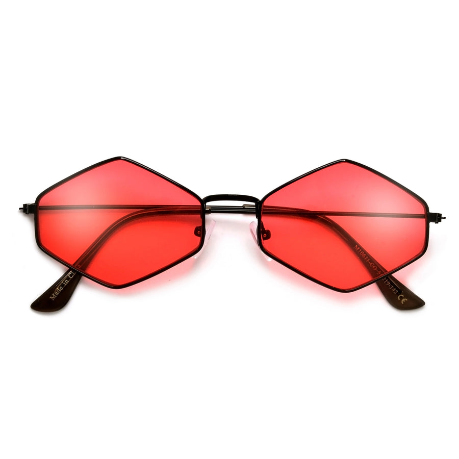 Timeless Glamour Ultra Slim Geometric Sunnies - Sunglass Spot