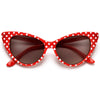 50s Inspired Polka Dot Cat Eye High Fashion Sunglasses - Sunglass Spot