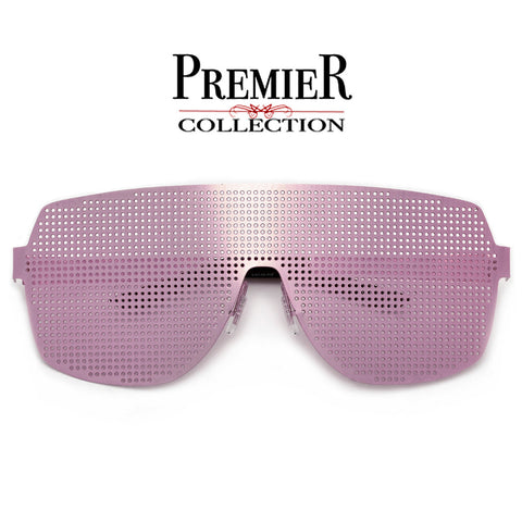 Premier Collection-Hot Ultra Hip Modern Shield Crossover Bar Sunnies