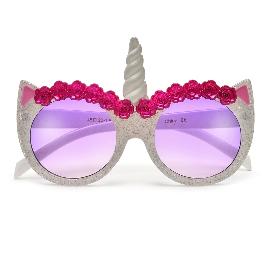 Adorable Alicorn Round Cat Eye Kids Sunnies