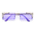 Slim Rimless Cut Out Tip Sunnies
