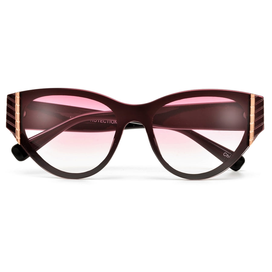 Stylish Gold Accent Cat Eye Sunnies