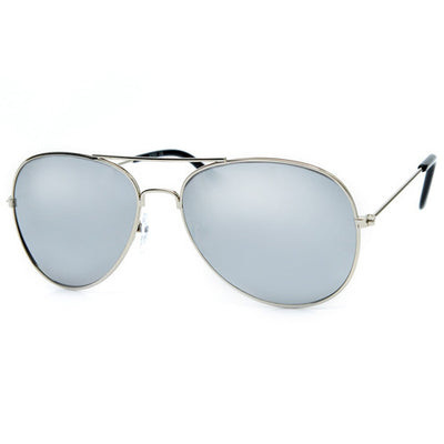 3 Pack Classic Metal Aviator with Reflective Mirrored Lens - Sunglass Spot