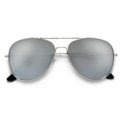 Classic Original Metal Aviator with Reflective Mirror Lens - Sunglass Spot