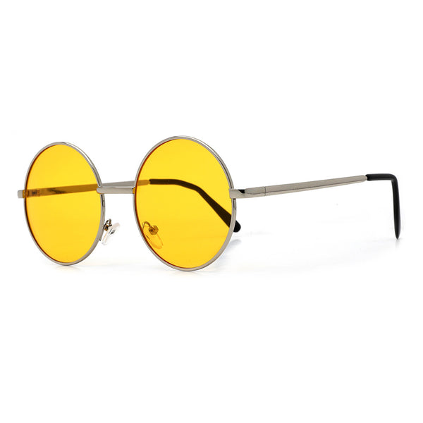 Round 51mm Yellow Tint Boho Sunnies