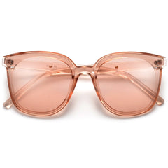 Crystal Clear Sleek Angular Clear Lens Eyewear