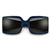 Oversize Retro Chic Squared Off Sunglasses