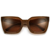 Chunky Squared Off Cat Eye Sunnies - Sunglass Spot