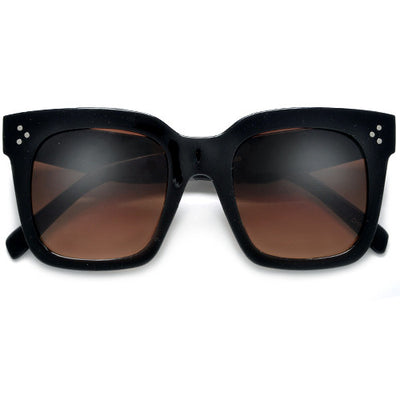 Bold Thick Triple Pinpoint Studs Chic Fashion Design Sunglasses - Sunglass Spot