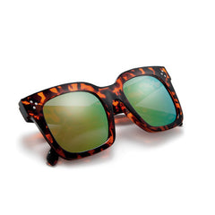 Bold Thick Triple Pinpoint Studs Chic Fashion Design Sunglasses