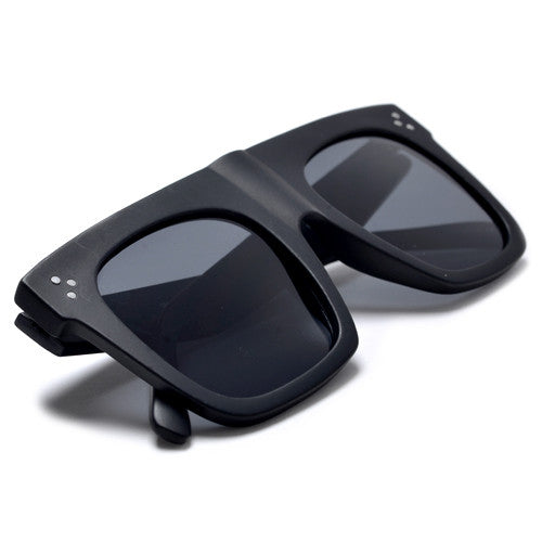 Chunky Thick Studded Flat Top Designer Inspired Sunglasses